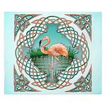 Celtic Flamingo King Duvet