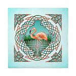 Celtic Flamingo Queen Duvet