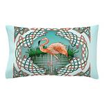 Celtic Flamingo Pillow Case