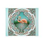 Celtic Flamingo Throw Blanket
