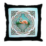 Celtic Flamingo Throw Pillow