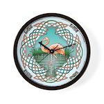 Celtic Flamingo Wall Clock