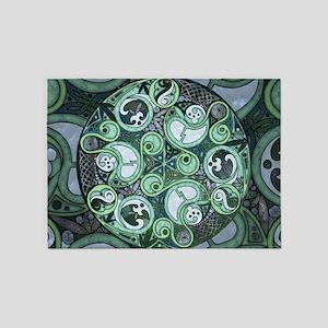 Celtic Stormy Sea Mandala 5'x7'Area Rug