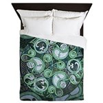 Celtic Stormy Sea Mandala Queen Duvet