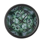 Celtic Stormy Sea Mandala Large Wall Clock
