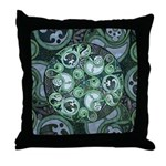 Celtic Stormy Sea Mandala Throw Pillow