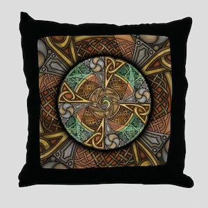 Celtic Aperture Mandala Throw Pillow
