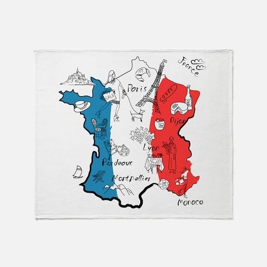 everything France Throw Blanket