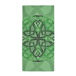 Celtic Clover Mandala Beach Towel