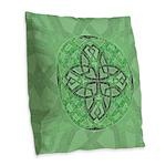 Celtic Clover Mandala Burlap Throw Pillow