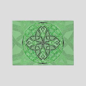 Celtic Clover Mandala 5'x7'Area Rug