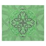 Celtic Clover Mandala King Duvet