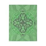 Celtic Clover Mandala Twin Duvet