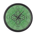 Celtic Clover Mandala Large Wall Clock