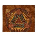 Celtic Pyramid Mandala Throw Blanket