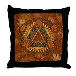 Celtic Pyramid Mandala Throw Pillow