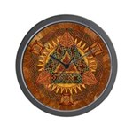Celtic Pyramid Mandala Wall Clock