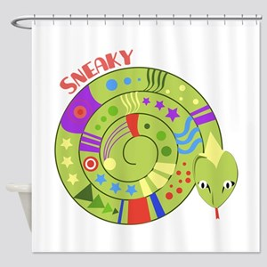 Sneaky Snake Shower Curtain