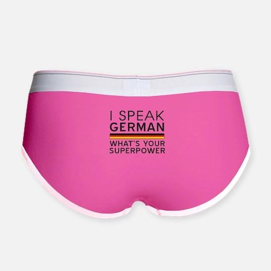 I speak German what's your superpower Women's Boy