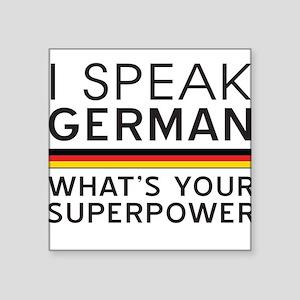 I speak German what's your superpower Sticker