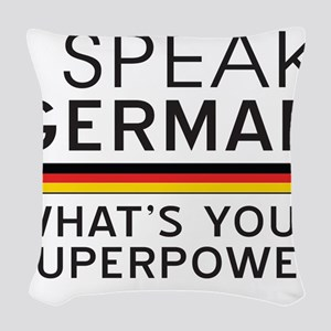 I speak German what's your superpower Woven Throw