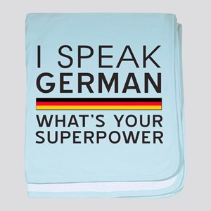 I speak German what's your superpower baby blanket