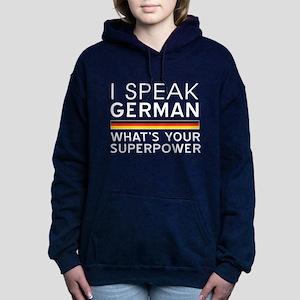 I speak German what's your superpower Women's Hood