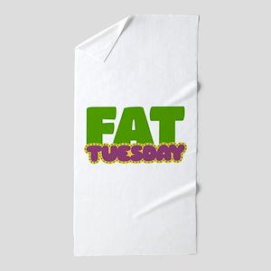 Fat Tuesday Beach Towel