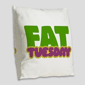 Fat Tuesday Burlap Throw Pillow