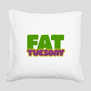 Fat Tuesday Square Canvas Pillow