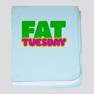 Fat Tuesday baby blanket