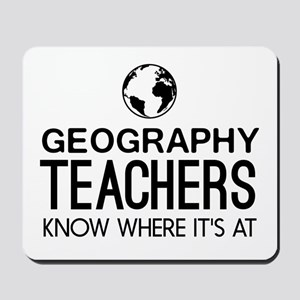 Geography knows where it's at Mousepad