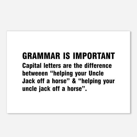 Grammar is important Postcards (Package of 8)