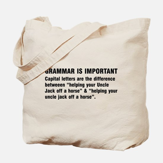 Grammar is important Tote Bag