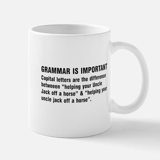 Grammar is important Mugs