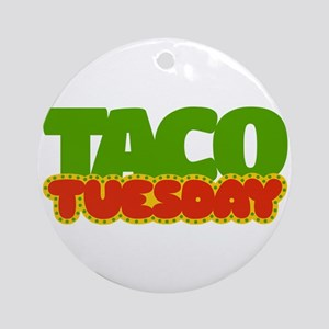 Taco Tuesday Ornament (Round)