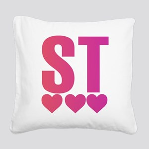 BFF (BE & ST COUPLES DESIGN) Square Canvas Pillow