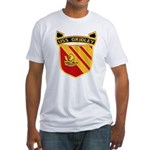 USS GRIDLEY Fitted T-Shirt