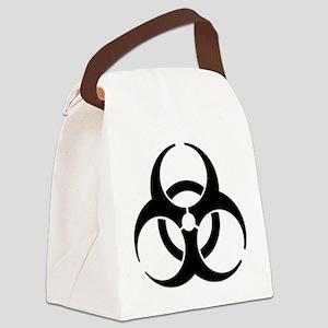 Biohazard Symbol Canvas Lunch Bag