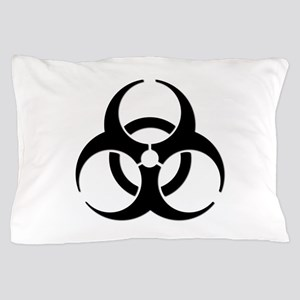 Biohazard Symbol Pillow Case