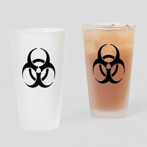 Biohazard Symbol Drinking Glass
