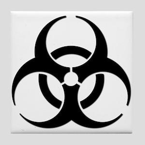 Biohazard Symbol Tile Coaster
