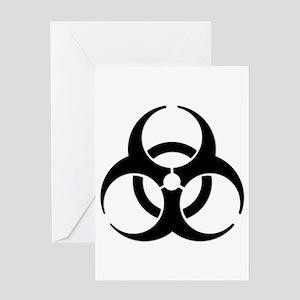 Biohazard Symbol Greeting Card
