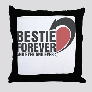 BESTIE FOREVER AND EVER AND EVER COUPLES Throw Pil