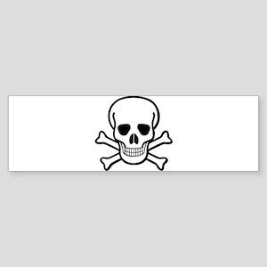 Skull and Crossbones Sticker (Bumper)