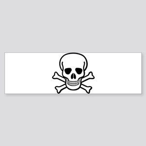 Skull and Crossbones Sticker (Bumper)