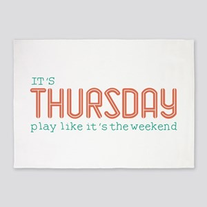 Thursday Like Weekend 5'x7'Area Rug