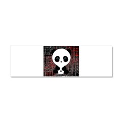 Panda Bear on Black and Red Car Magnet 10 x 3