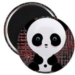 Panda Bear on Black and Red Magnets