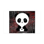 Panda Bear on Black and Red Wall Decal